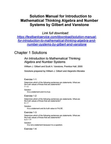 solution manual for introduction to mathematical thinking algebra rh issuu com introduction to mathematical thinking solutions manual mathematical thinking problem-solving and proofs solutions manual
