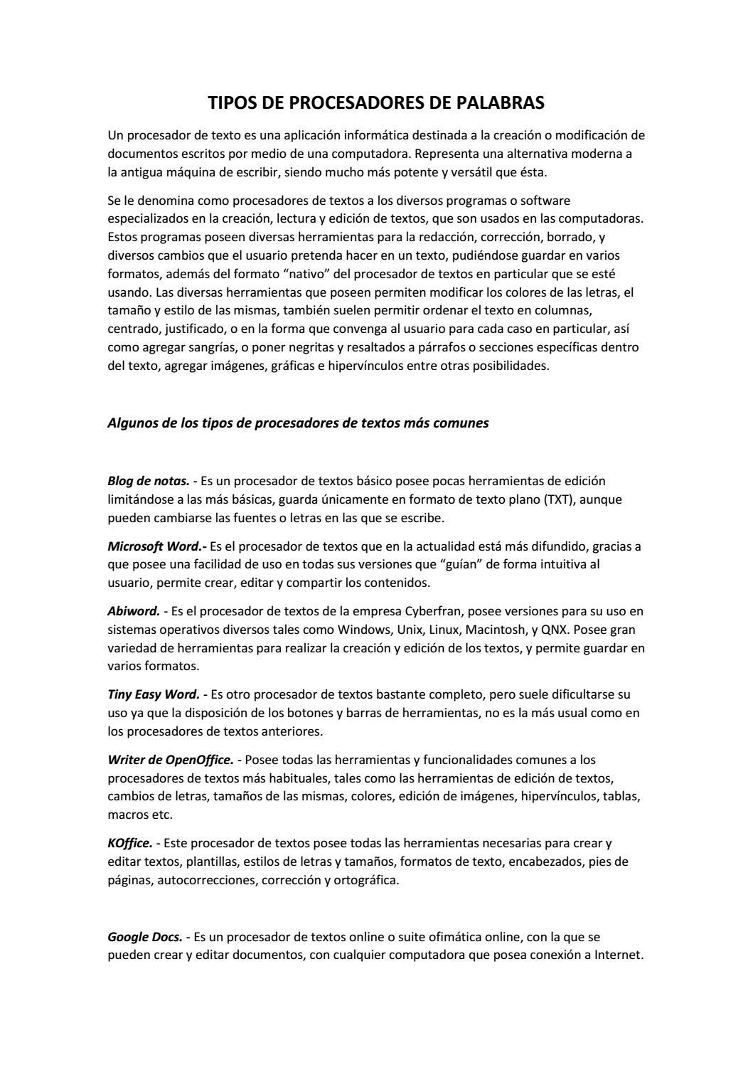 Tipos de Procesadores by jenni.socasi27 - issuu