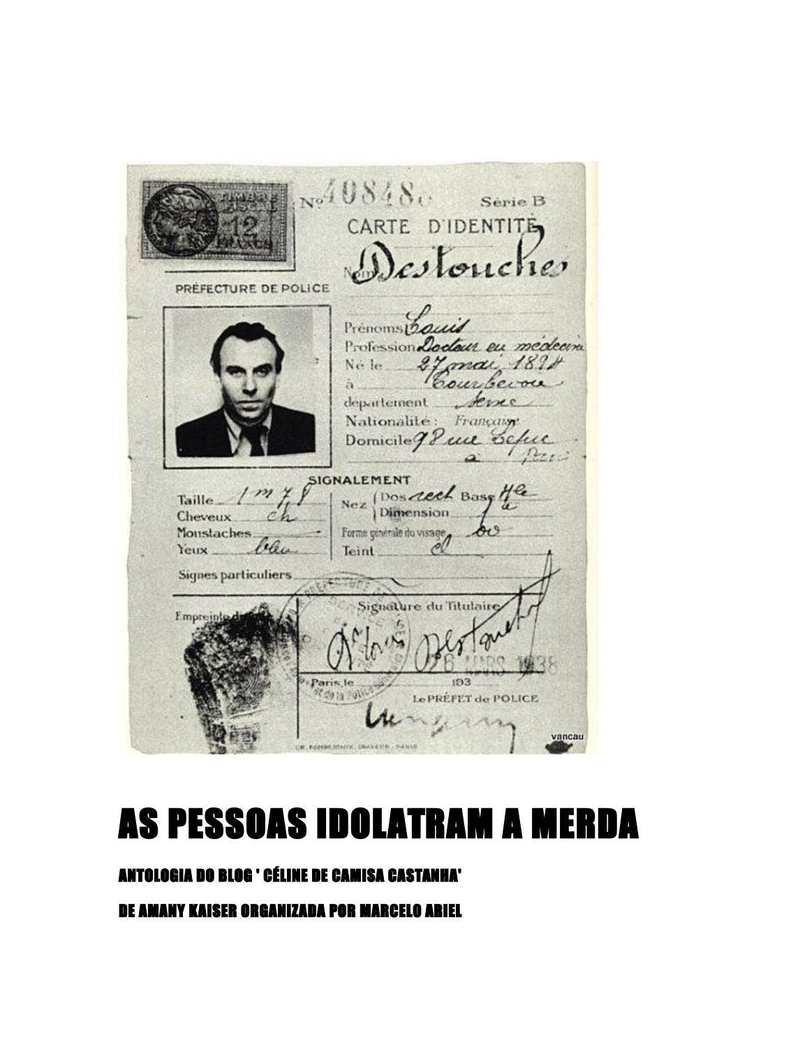 a826830bb15ef As pessoas idolatram a merda by Marcelo Ariel - issuu