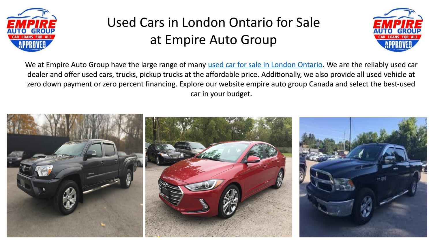 Used Car Dealerships Websites >> London Ontario Car Dealerships By Empire Autogroup Issuu