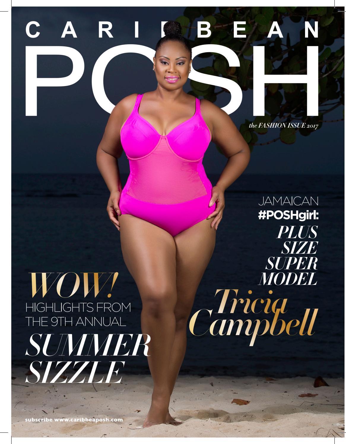 9bb17d1fad899 Caribbean POSH Fashion Issue - Tricia Campbell Cover by Caribbean POSH -  issuu