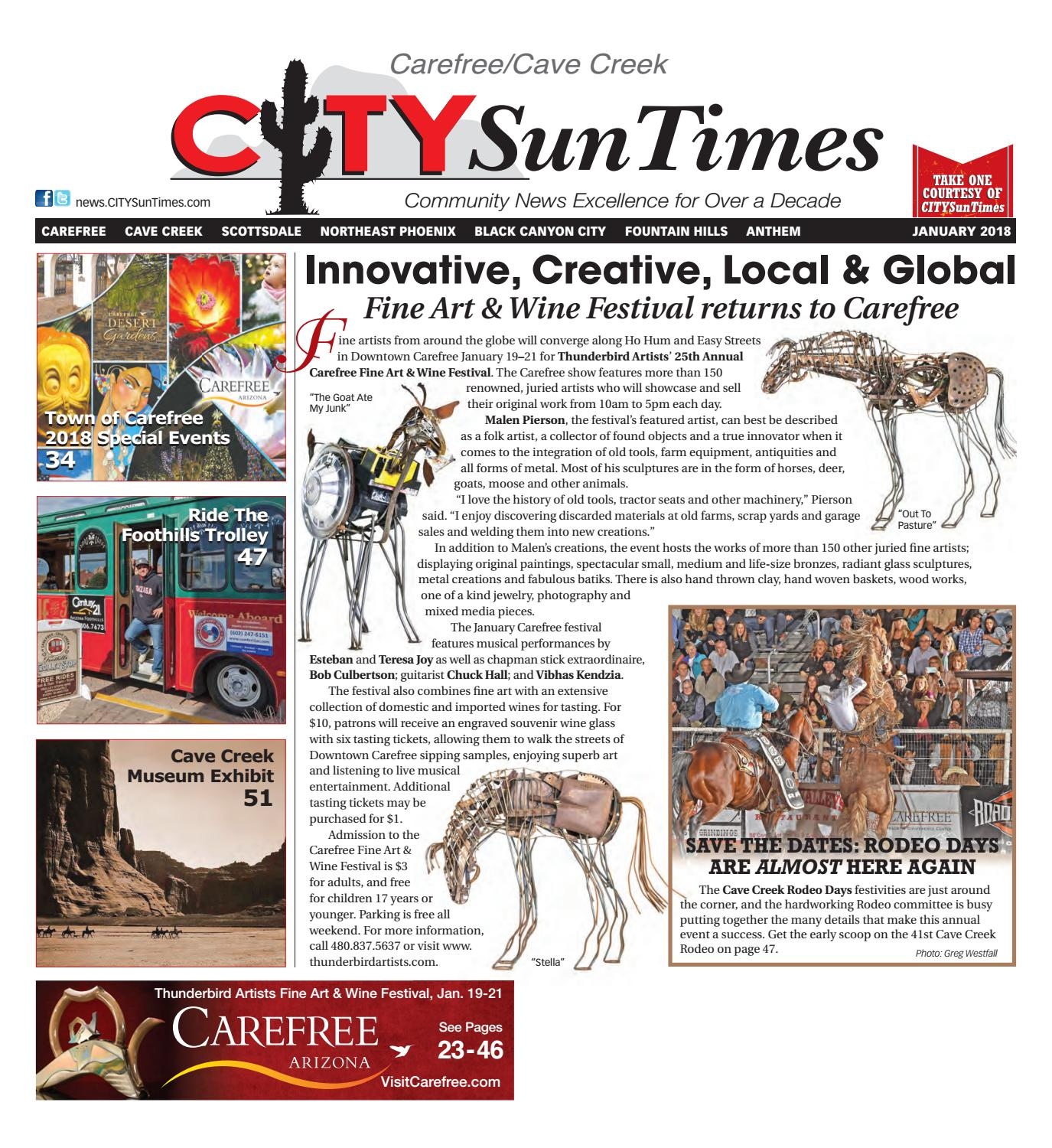 Carefree Cave Creek January 2018 Issue of CITYSunTimes by