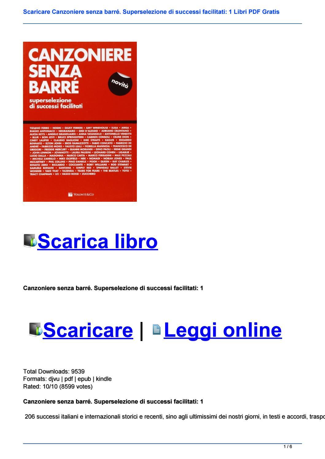 SCARICARE CANZONIERE CHITARRA PDF