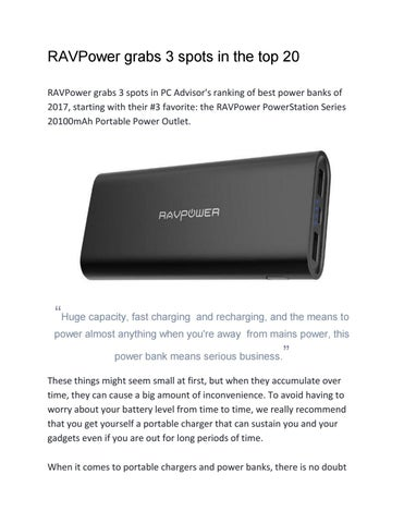 Best power banks 2017 by pc advisor by conclubiltz - issuu