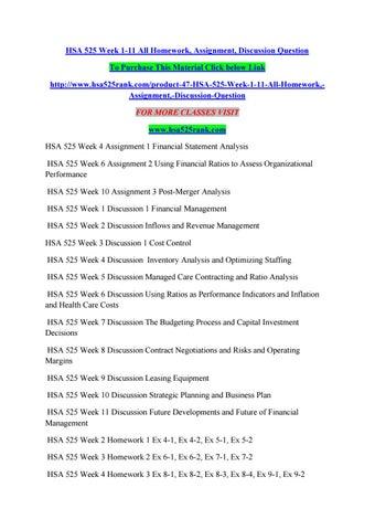 hsa 525 homework week 10