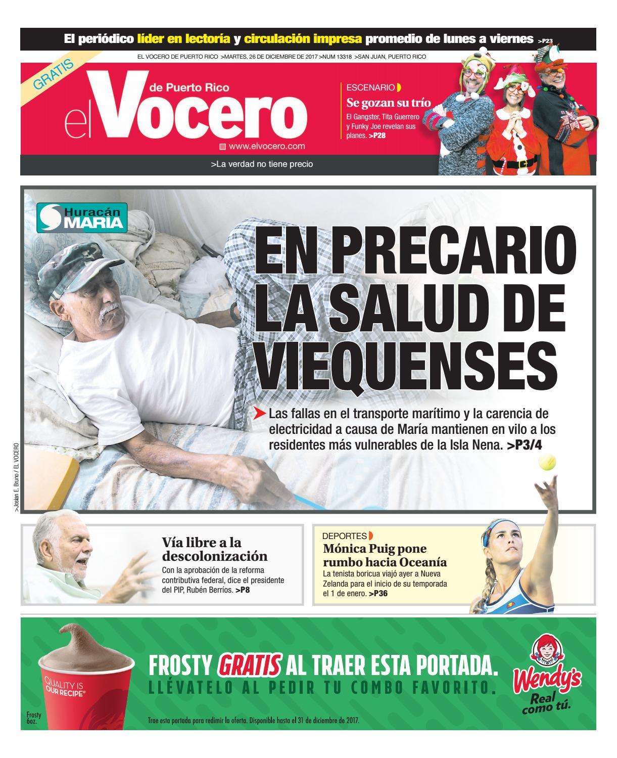 Edición del 26 de diciembre de 2017 by El Vocero de Puerto Rico - issuu
