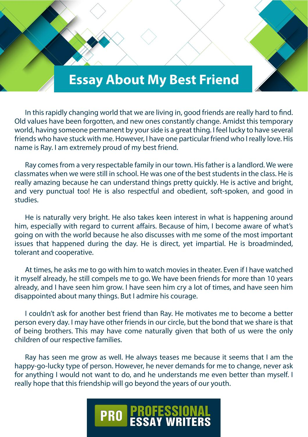 essay about my best friend by professional essay writers issuu