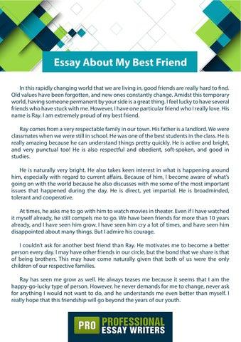 my best friend essay for kids
