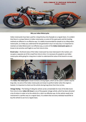 Indian Motorcycle Spares By Gelomanindian Issuu