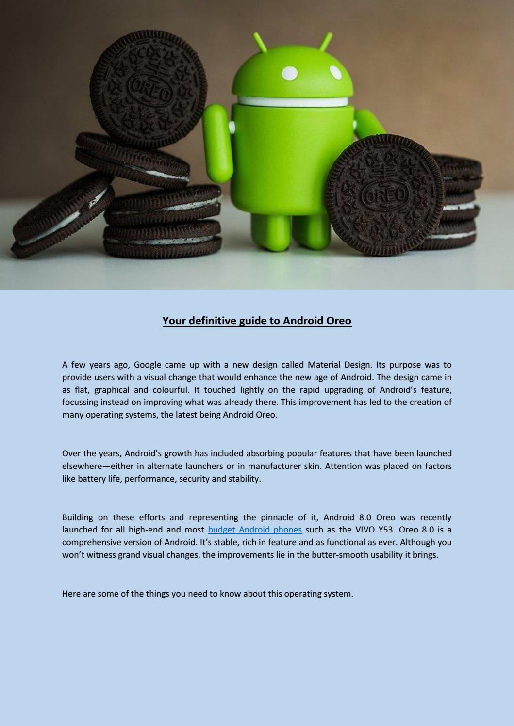 Your definitive guide to android oreo by sam pepper - issuu