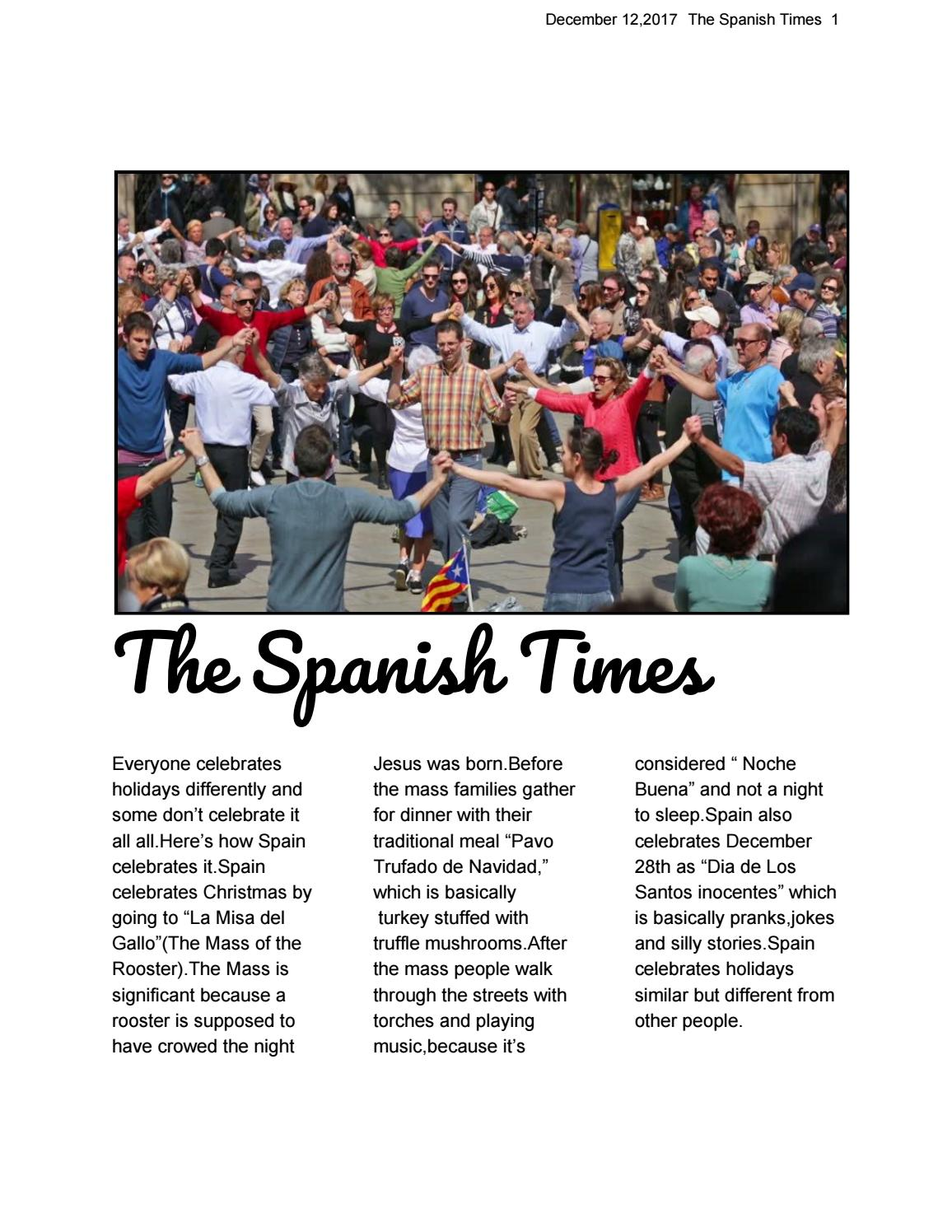 The Spanish Times By Room170 Issuu
