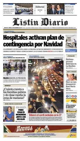 db7aff1134 LD 23-12-2017 by Listín Diario - issuu