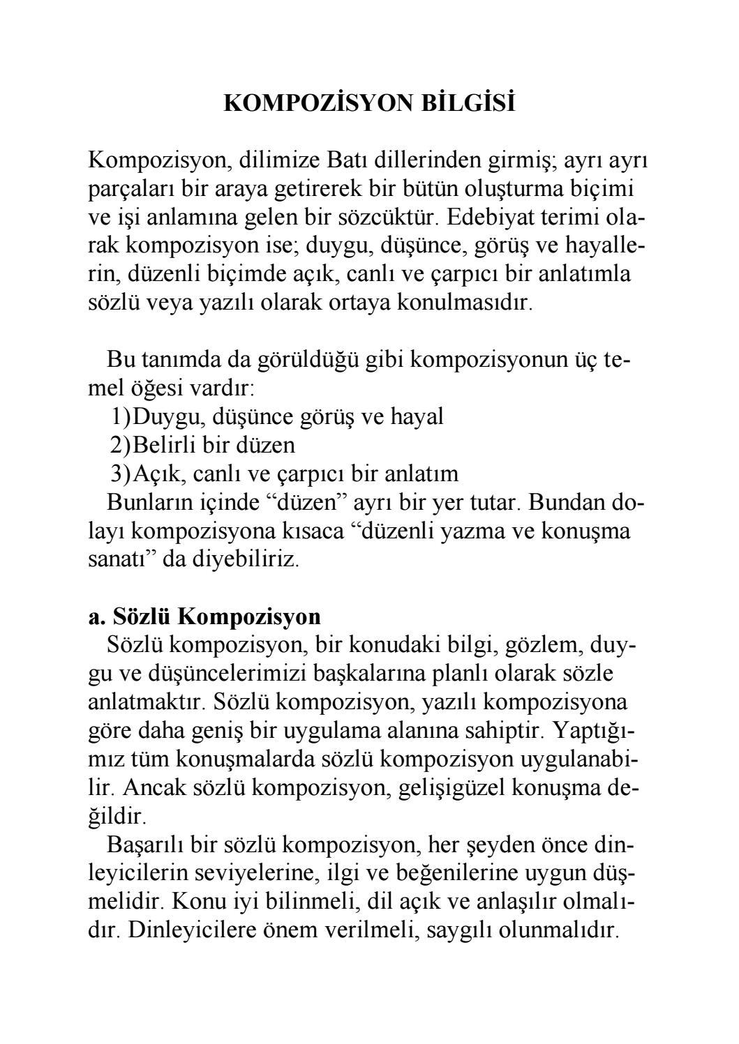 Kompozisyona epigraf: doğru yaklaşım 5