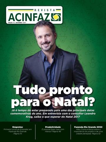 2fb3317b58d70 Revista ACINFAZ - Edição 114 (novembro 2017) by Associação Comercial ...