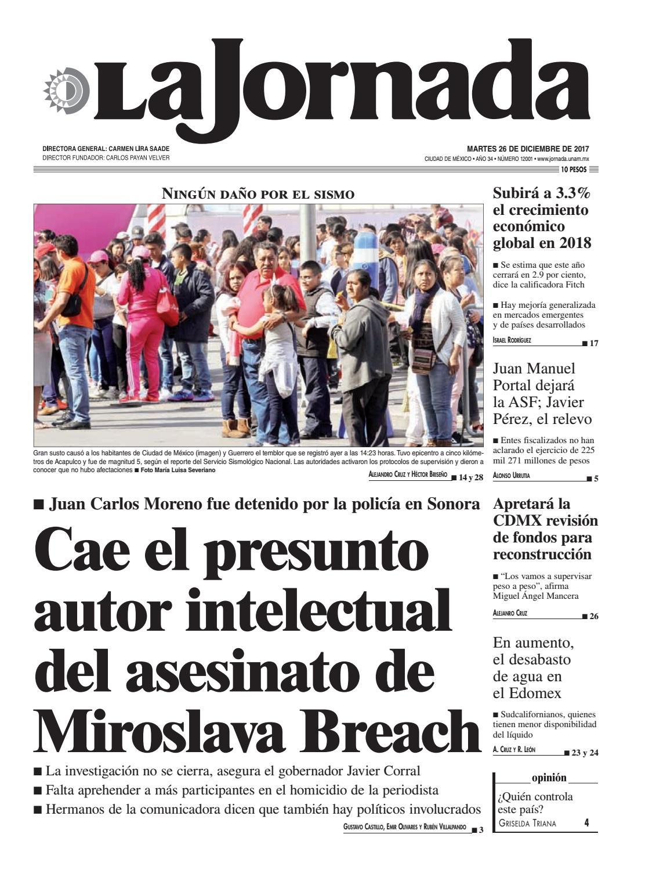 La Jornada, 12/26/2017 by La Jornada: DEMOS Desarrollo de Medios SA ...