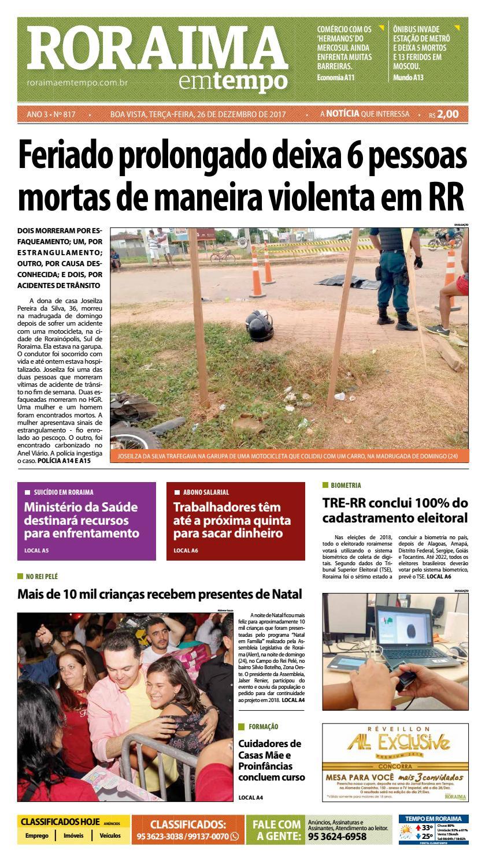 2edcd7b766a00 Jornal roraima em tempo – edição 817 by RoraimaEmTempo - issuu