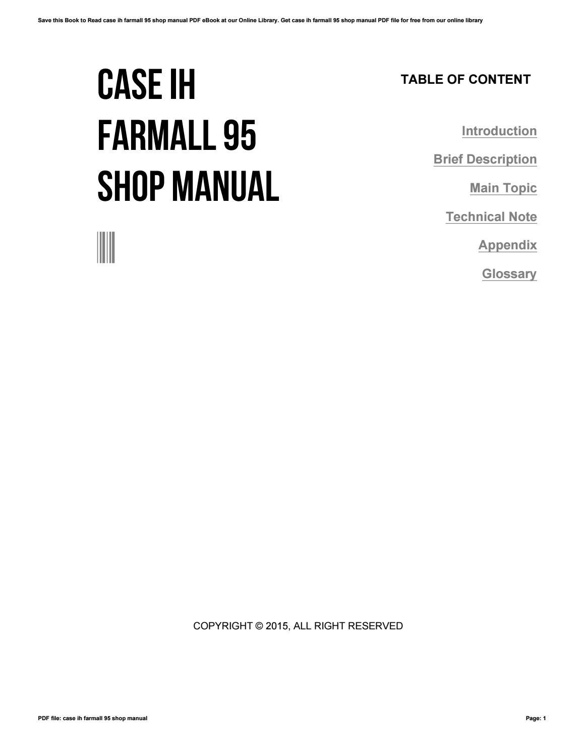 Farmall a manual pdf