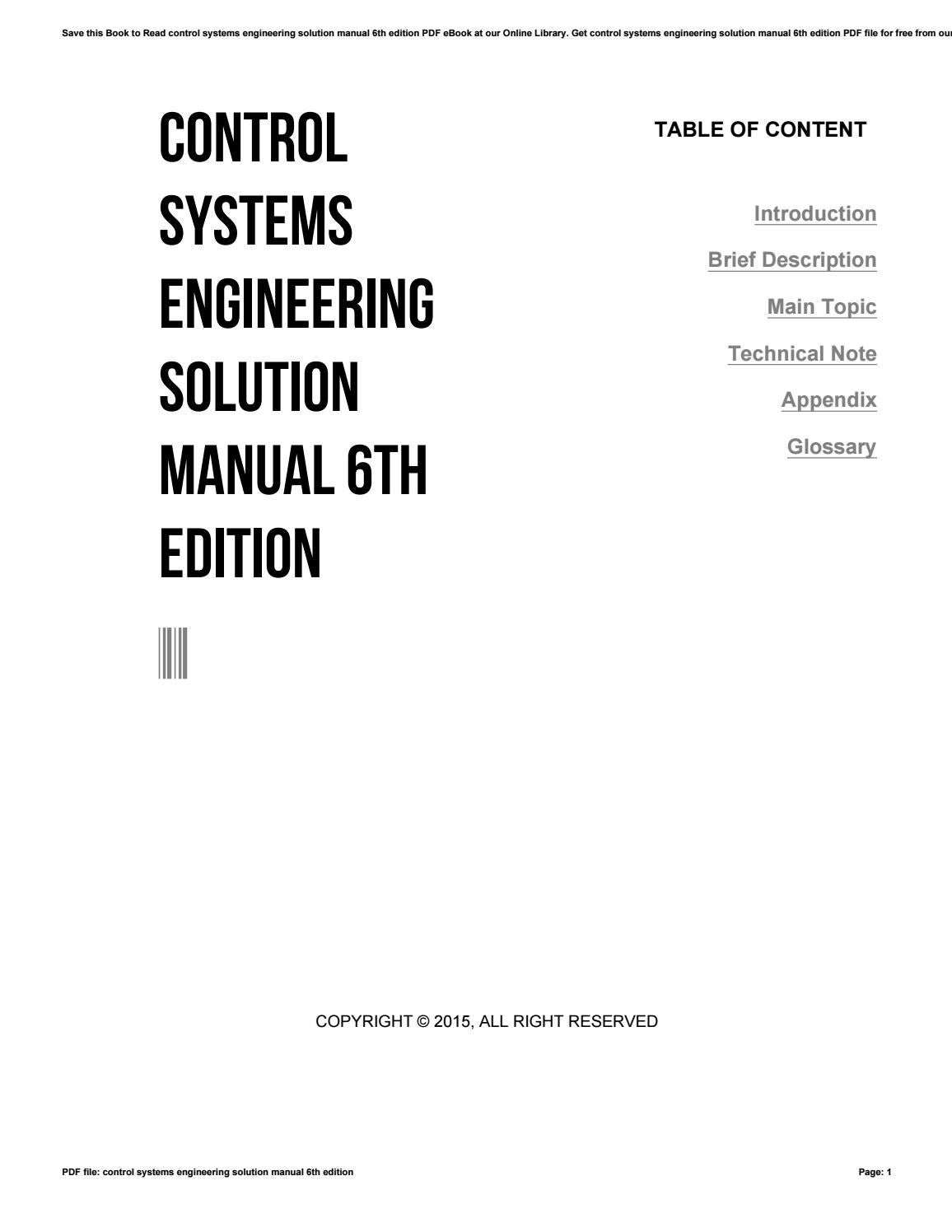 Control systems engineering solution manual 6th edition by e-mailbox5 -  issuu