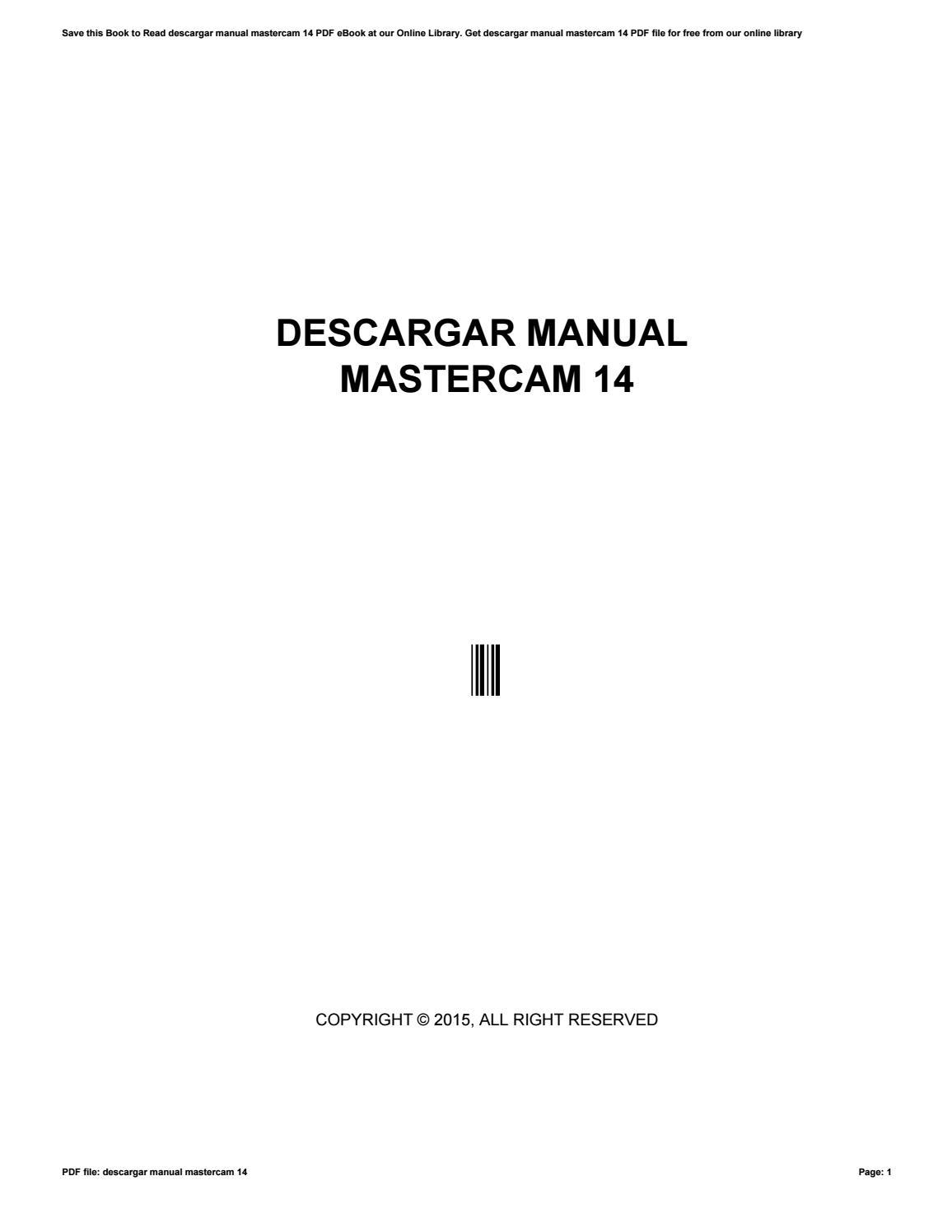 descargar manual mastercam 14 by c4075 issuu rh issuu com Mastercam Screen Mastercam 9