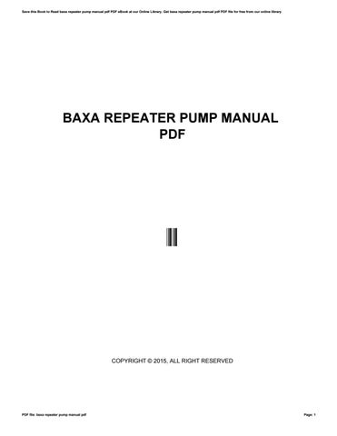 Bose wave radio cd pedestal manual by kumail876 issuu cover of baxa repeater pump manual pdf fandeluxe Gallery