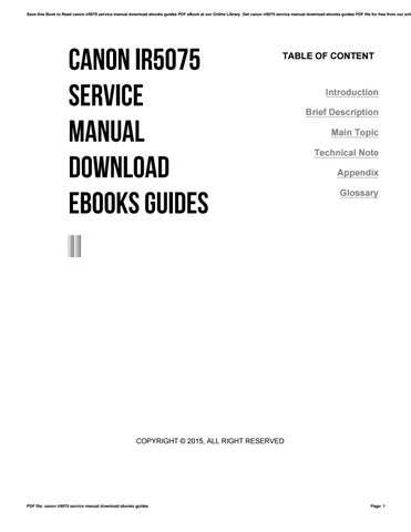 canon ir5075 service manual download ebooks guides by lordsofts6 issuu rh issuu com Canon Owner's Manual Canon Hot Shoe Cover