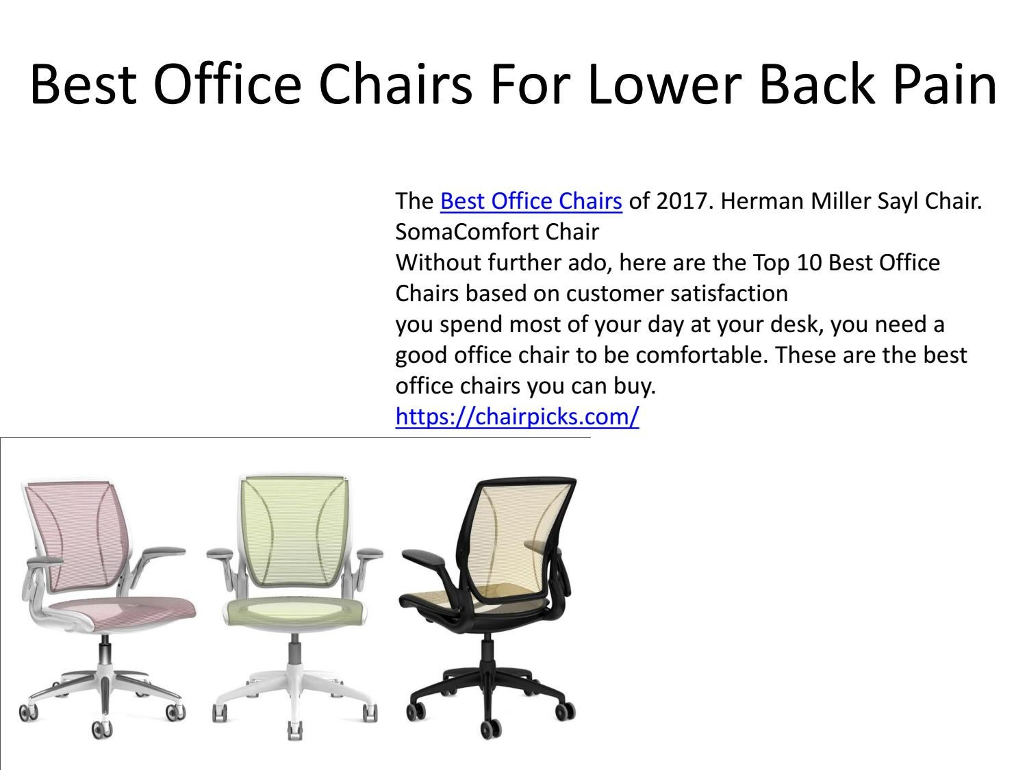 Sensational Best Office Chairs For Lower Back Pain By Denirigmes Issuu Gmtry Best Dining Table And Chair Ideas Images Gmtryco