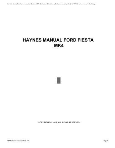 haynes manual ford fiesta mk  zhcne issuu