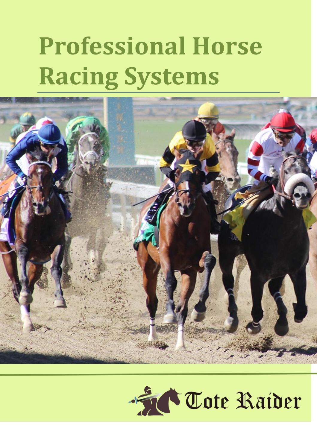 Winning Horse Racing Systems