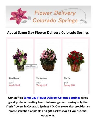 Call 719 602 6128 For Flower Delivery In Colorado Springs By