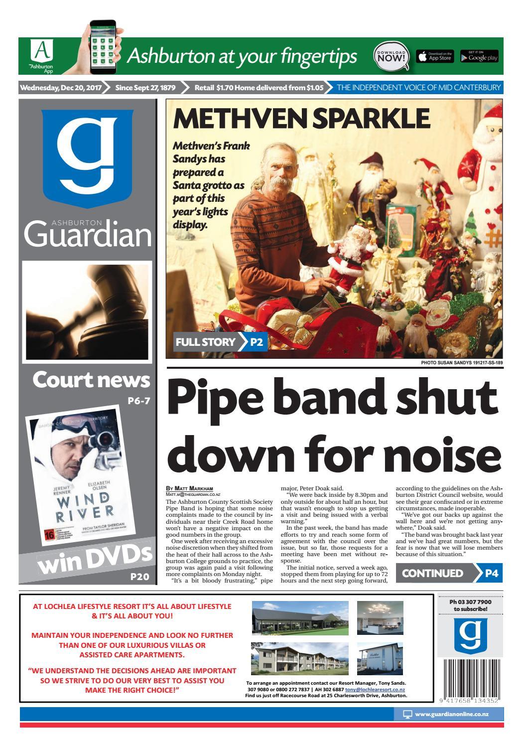 Ag 20 december, 2017 by Ashburton Guardian - issuu