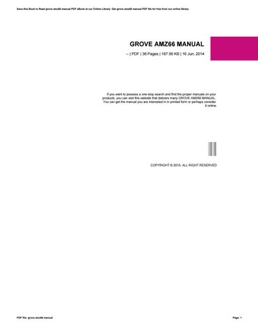 Manual D grove amz46ne