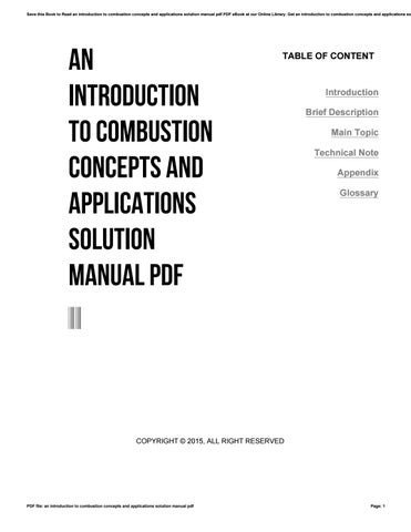 An introduction to combustion concept and applications.