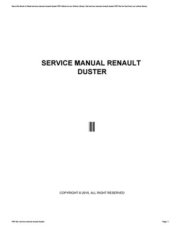 service manual renault duster by e477 issuu rh issuu com duster service manual pdf service manual dacia duster