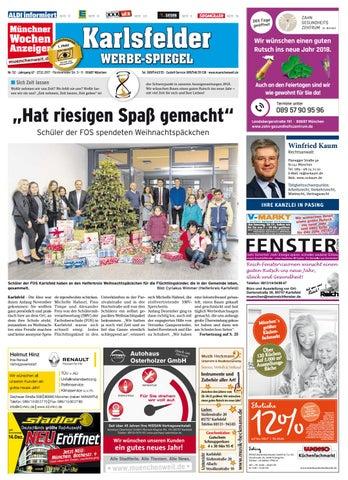 Kw 52 2017 by wochenanzeiger medien gmbh issuu for Spiegel 52 2017