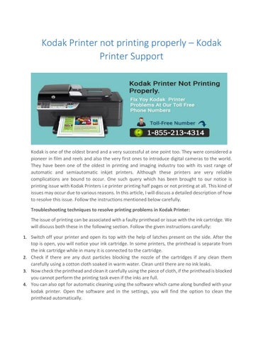 kodak printer not printing properly kodak printer support by