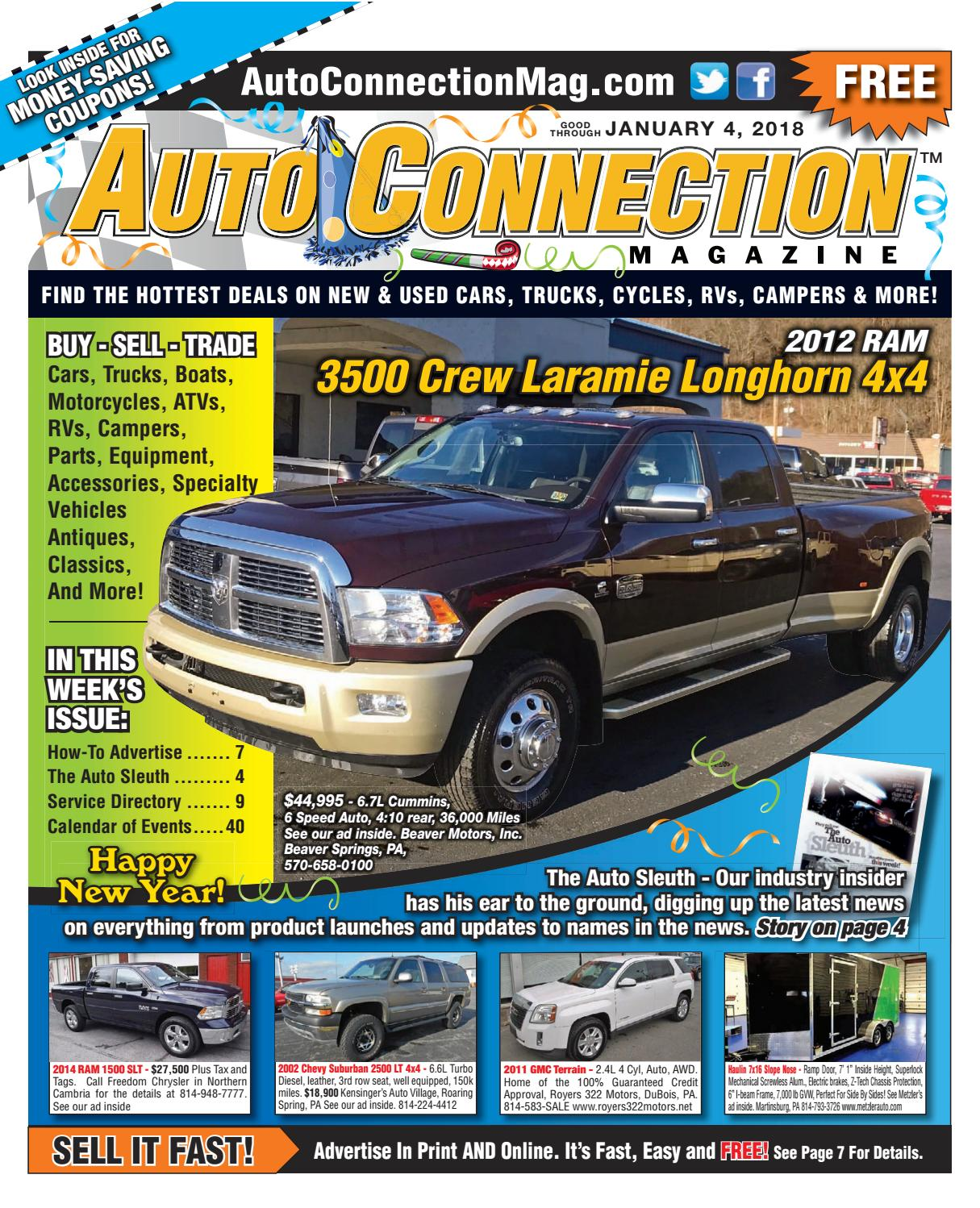 01-04-18 Auto Connection Magazine by Auto Connection
