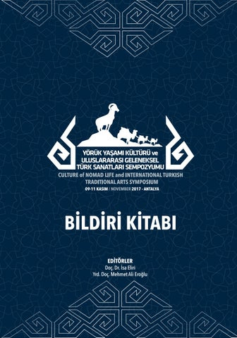 Yörük yaşamı kültürü ve geleneksel Türk sanatları sempozyumu bildiri ... 8909fe8c7dd9
