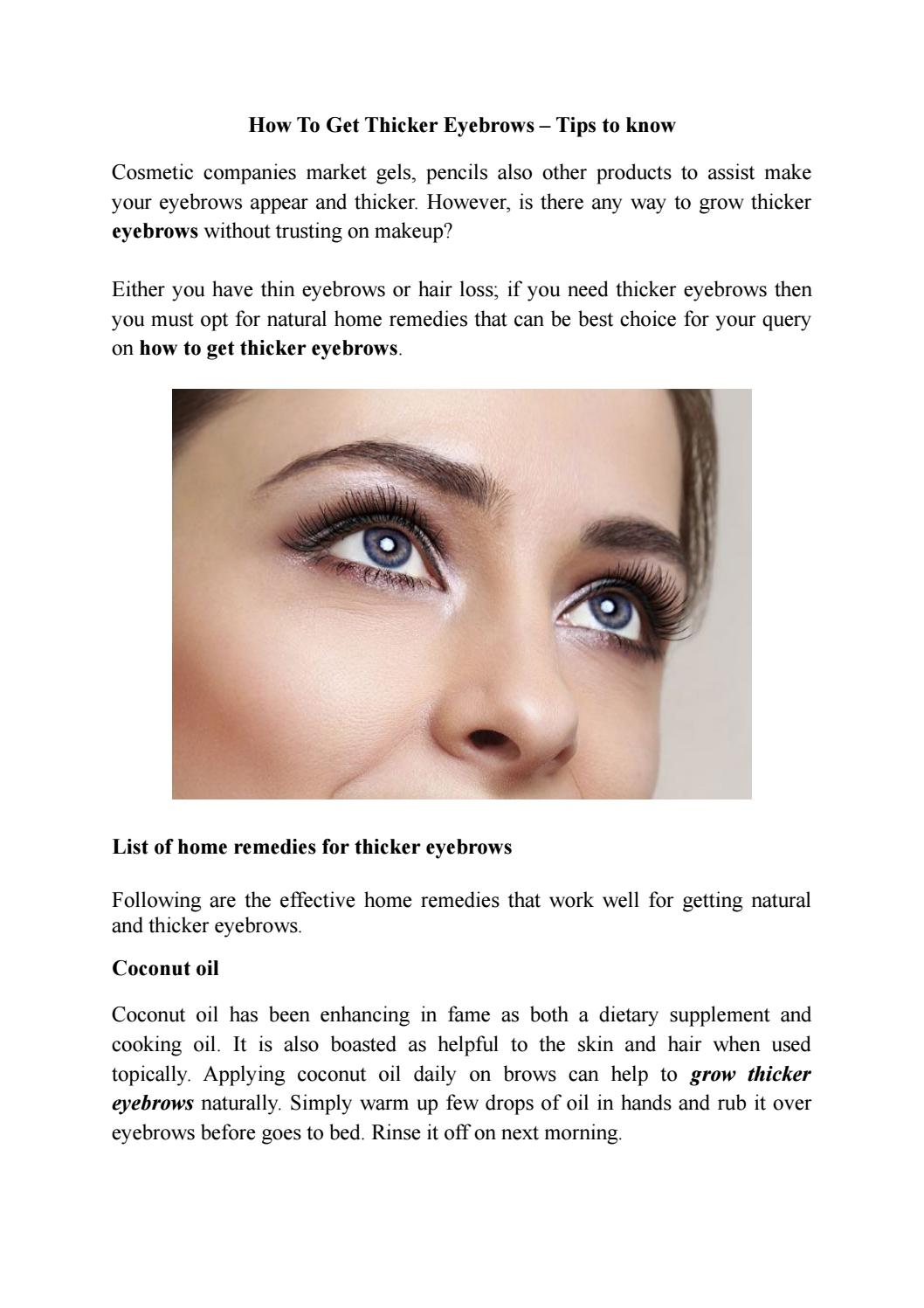 How To Get Thicker Eyebrows Effective Home Remedies To Try By