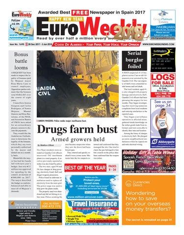 Euro weekly news costa de almeria 28 dec 2017 3 jan 2018 issue page 1 fandeluxe Images