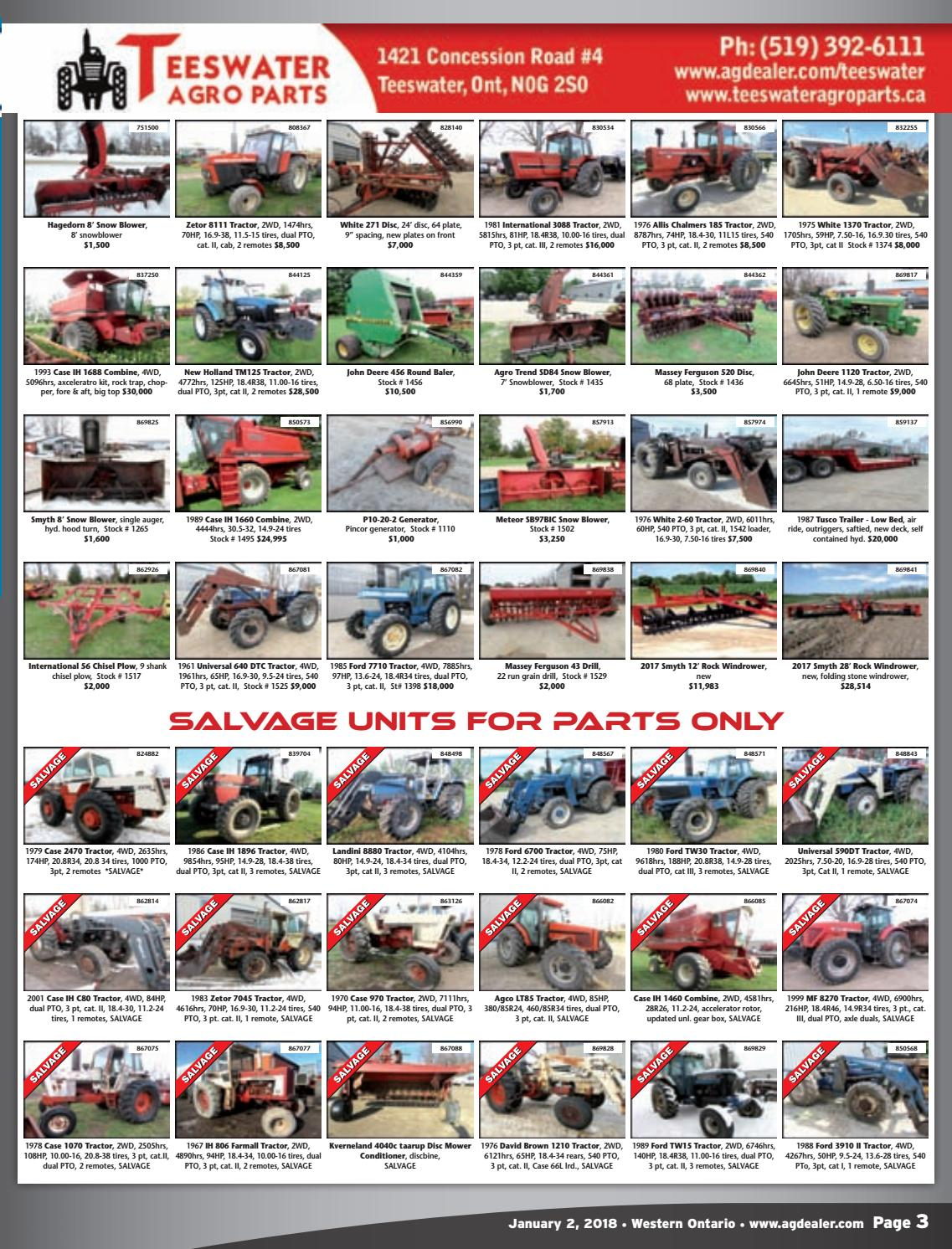 AGDealer Western Ontario Edition, December 27, 2017 by Farm Business