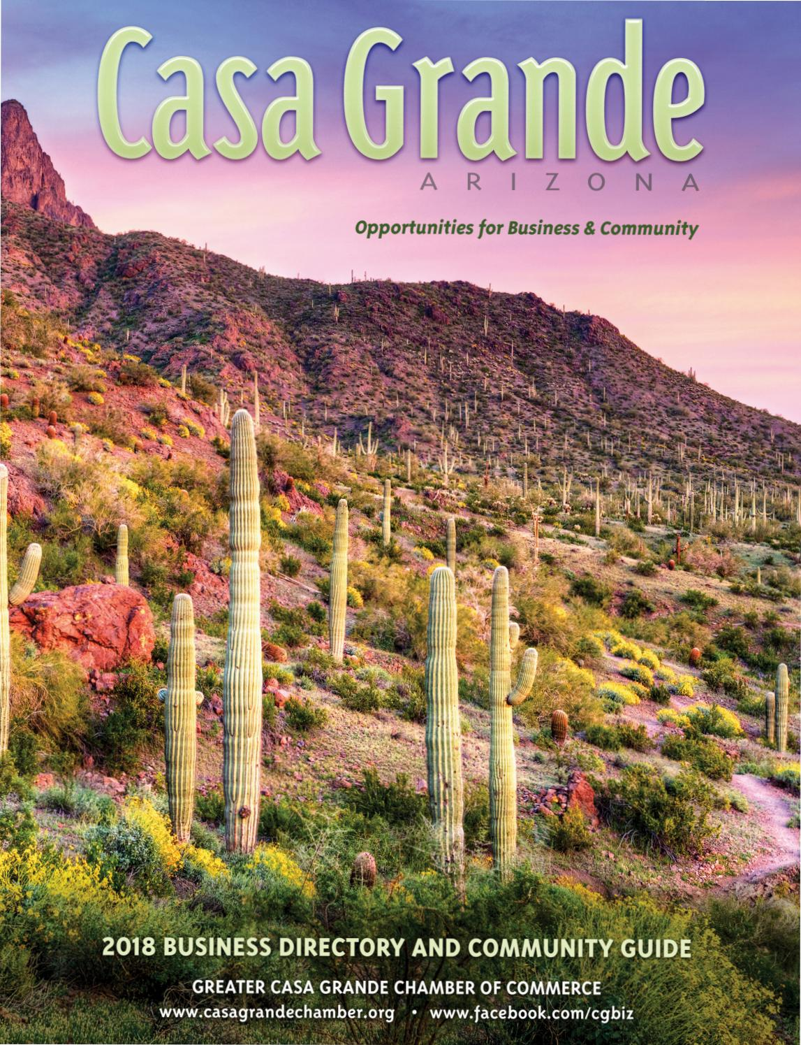 Casa Grande Chamber Of Commerce 2018 Business Directory And