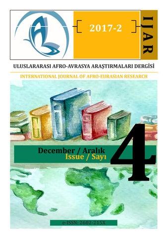 Afro Avrasya Dergi 20172 By Murat Buyruk Issuu