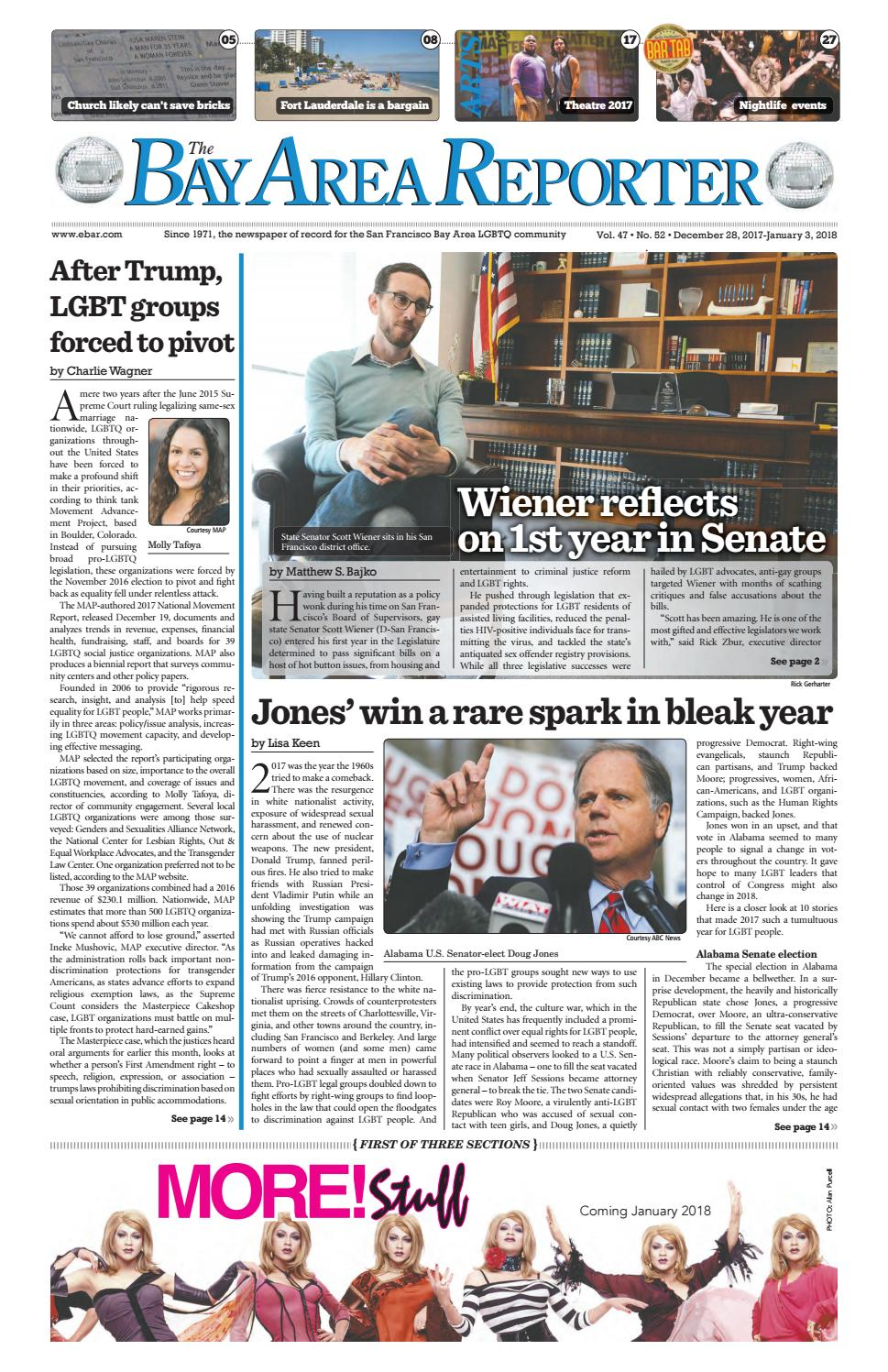 December 28, 2017 Edition of the Bay Area Reporter by Bay Area
