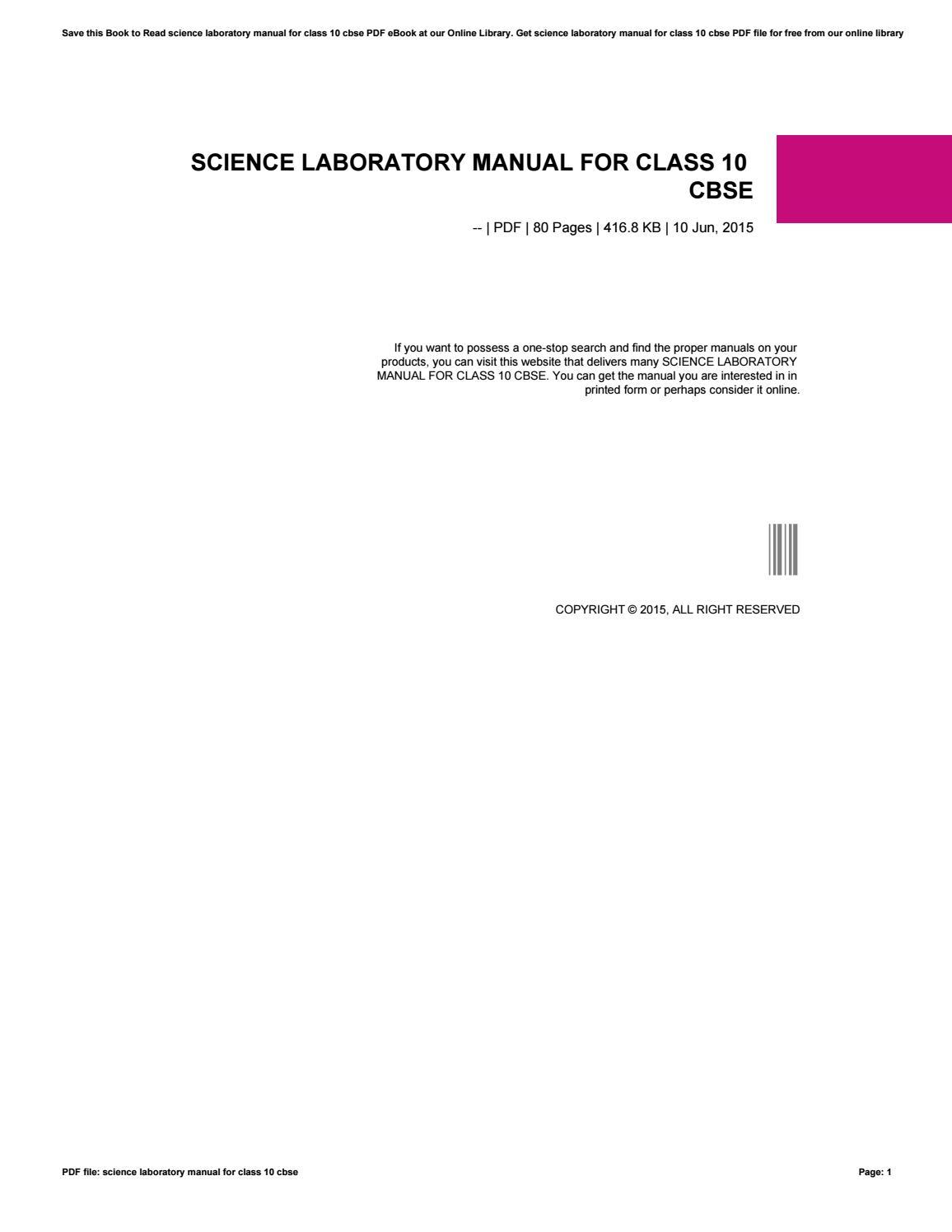 Science Lab manual Cbse
