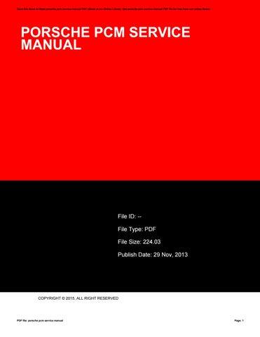 porsche pcm service manual by u082 issuu rh issuu com Porsche PCM Track Porsche PCM Track