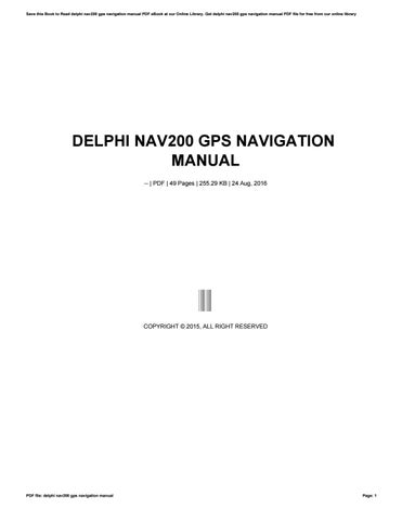 delphi nav200 gps navigation manual by isdaq4 issuu rh issuu com GPS Icon GPS Satellite Navigation