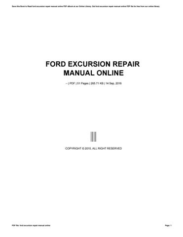 ford excursion repair manual online by apssdc81 issuu rh issuu com 2000 ford excursion repair manual pdf 2004 ford excursion repair manual