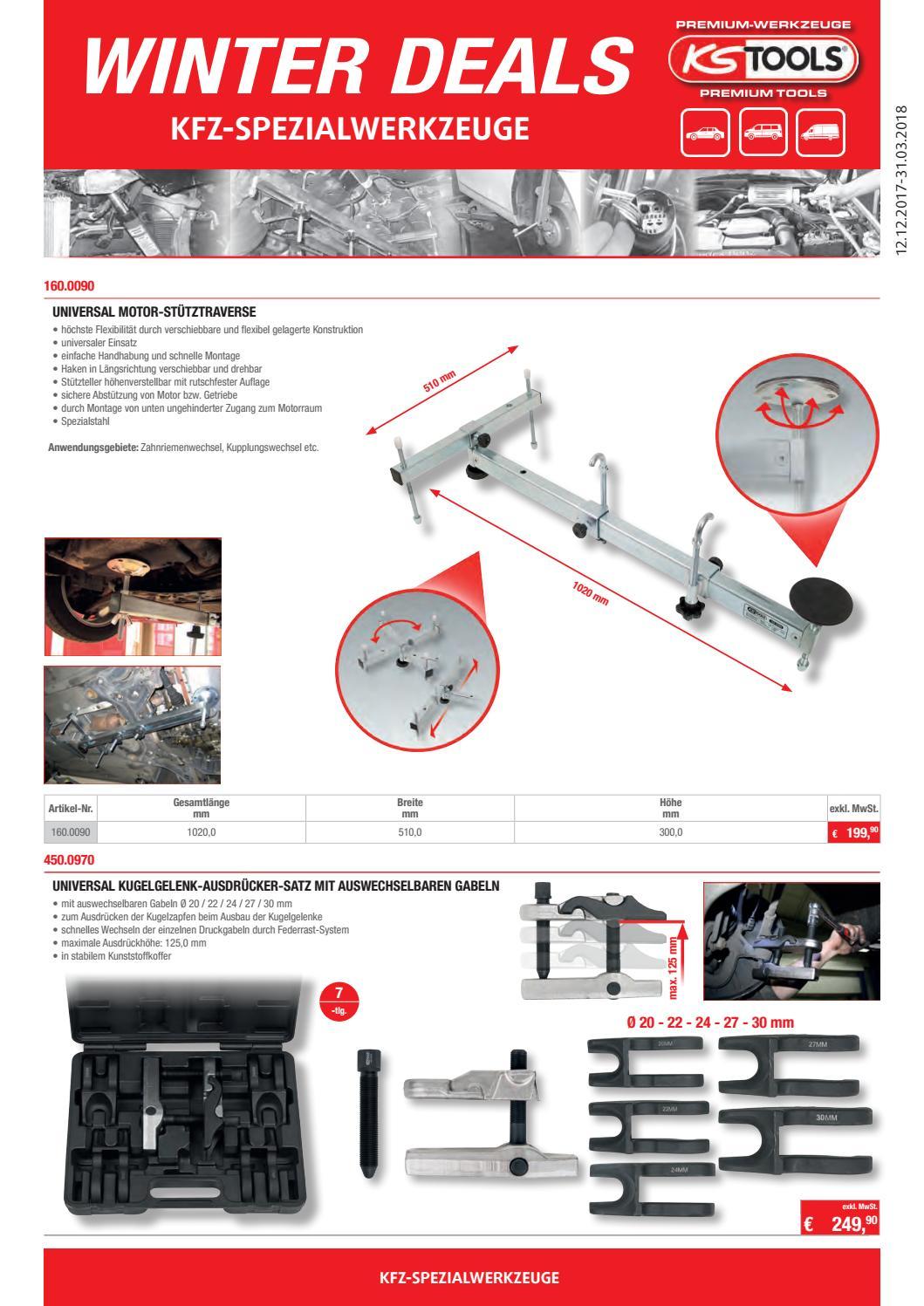 Kugelgelenkausdrücker Kugelkopf Abzieher 5 Gabeln 20-22-24-27-30 mm 7-tlg