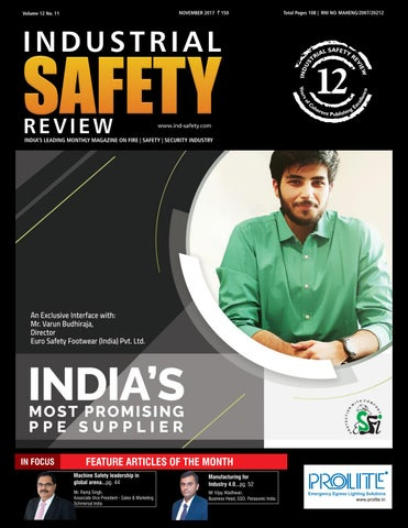 Industrial Safety Review - November 2017 by Divya Media Publications