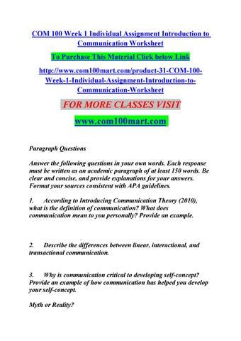 self communication pdf